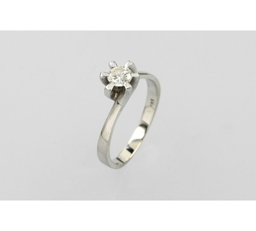 Henry's14 kt gold solitaire ring with brilliant