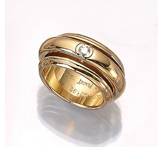 Henry'sPIAGET 18 kt gold ring with brilliant