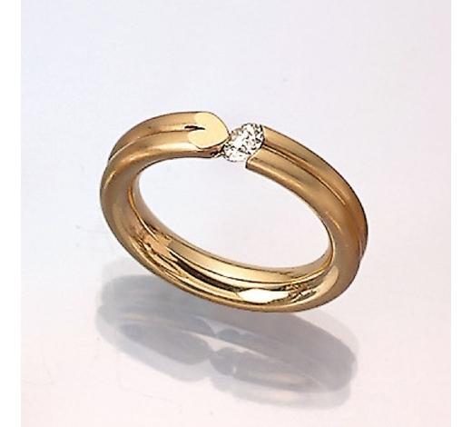 Henry's18 kt gold BUNZ-ring with brilliant