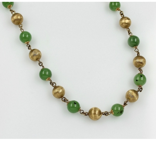 Henry'sNecklace with chrysoprase
