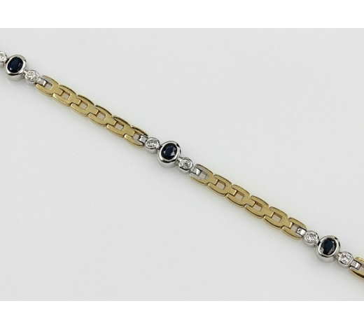 Henry's18 kt gold bracelet with sapphires and brilliants