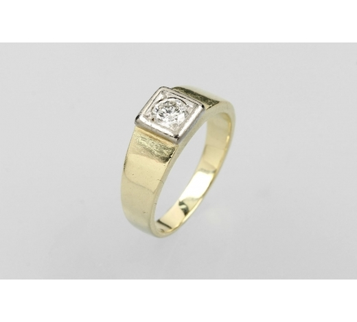 Henry's14 kt gold ring with brilliant