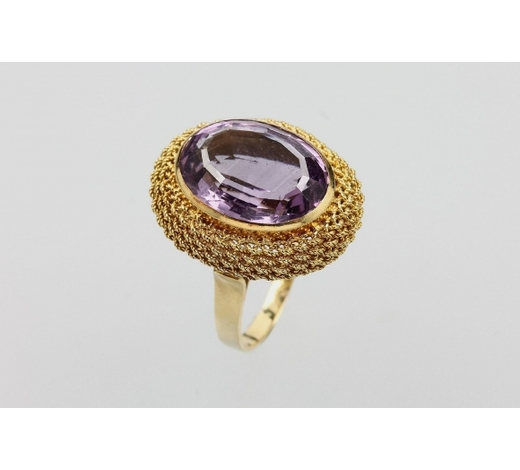 Henry's18 kt gold ring with amethyst