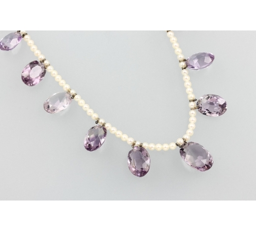 Henry'sNecklace with amethysts and pearls