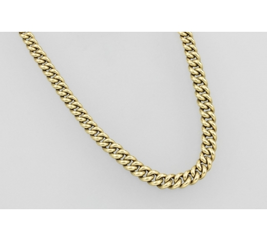 Henry's14 kt gold curb chain round