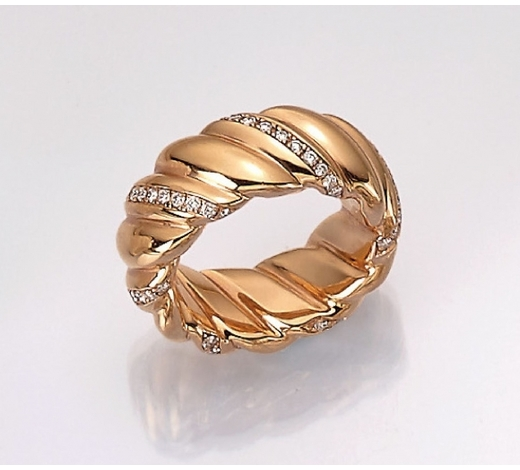 Henry's18 kt gold ring with diamonds