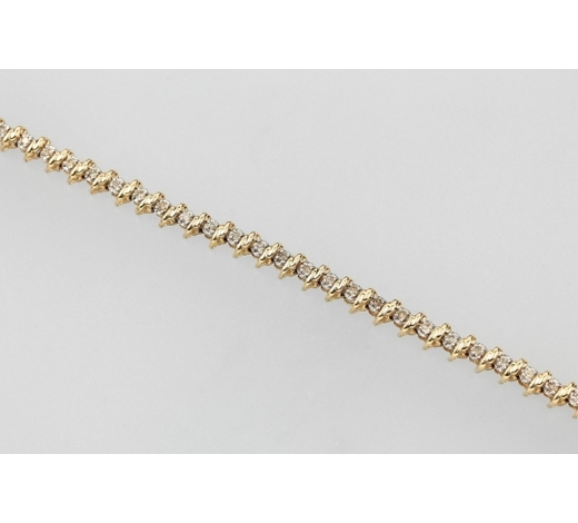 Henry's14 kt gold bracelet with brilliants