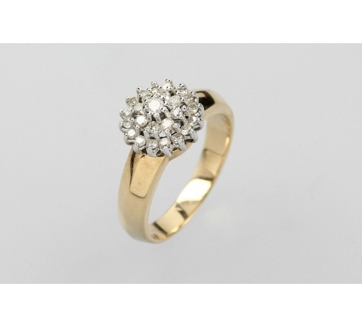 Henry's14 kt gold ring with brilliants
