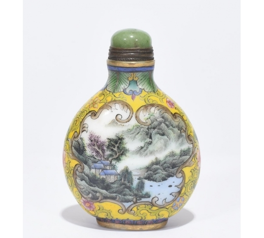 Galaxy Auction IncQianlong Marked Enamelled Snuff Bottle