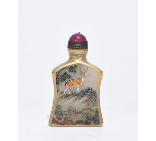 Galaxy Auction IncA Famille Rose Glass Snuff Bottle
