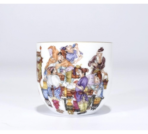 Galaxy Auction IncA Qianlong Marked Famille Rose 'Figure' Cup