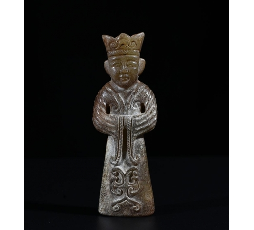Galaxy Auction IncAn Archaic Jade Carved Figure