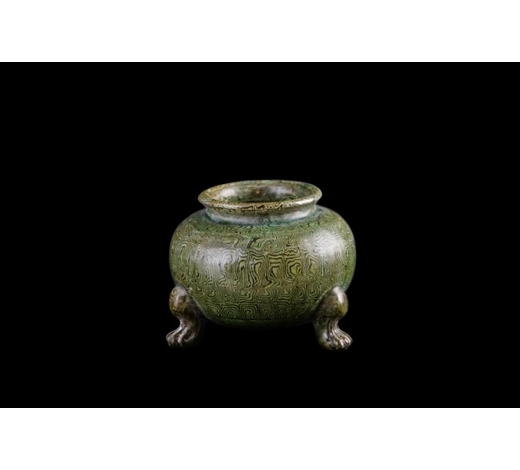Galaxy Auction IncMing Marbled Porcelain Tripod Censer