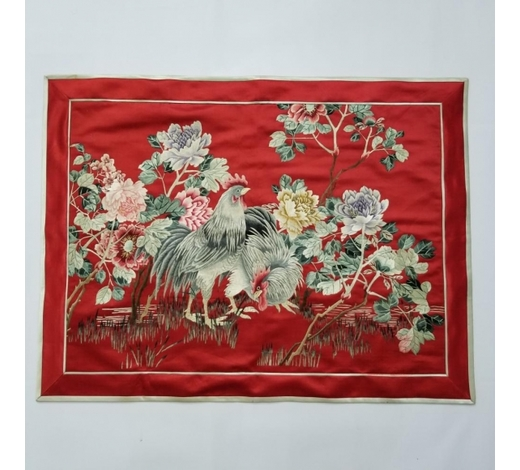 Galaxy Auction IncAntique Chinese Silk Hand Embroidered Panel Qing Dynasty