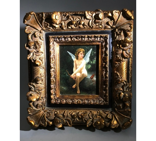 Galaxy Auction IncA Signed Western Painting 'Angel'