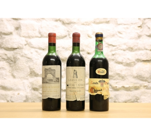 Elstob & Elstob3 BOTTLES LOT MATURE CLASSIFIED GROWTH CLARET AND RARE CHIANTI