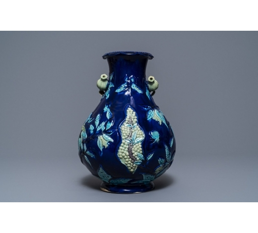 Rob Michiels AuctionsA Chinese fahua relief-decorated vase, 19th C.
