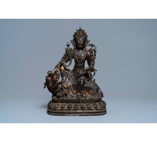 Rob Michiels AuctionsA large Chinese bronze group of Guanyin on a dragon, prob. Ming