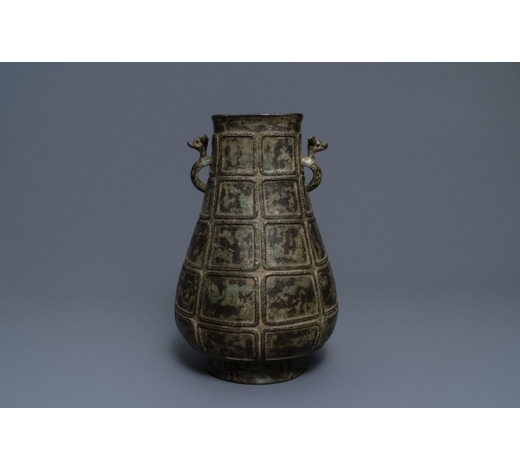Rob Michiels AuctionsA Chinese bronze vase in archaic style, 19th C.