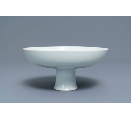 Rob Michiels AuctionsAn imperial Chinese monochrome white stem cup, Qianlong mark and of the period