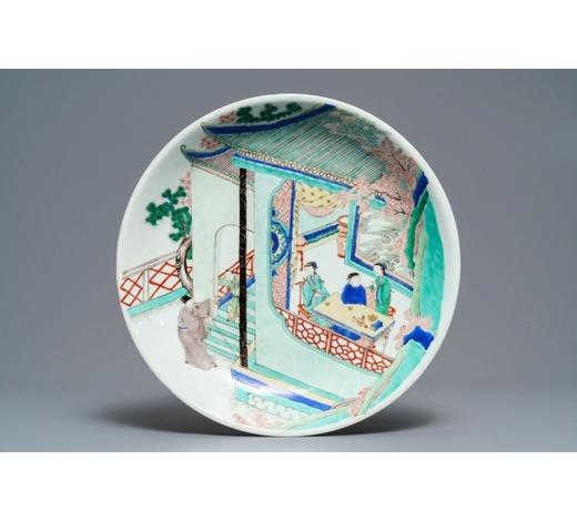 Rob Michiels AuctionsA Chinese famille verte 'tea ceremony' charger, Kangxi