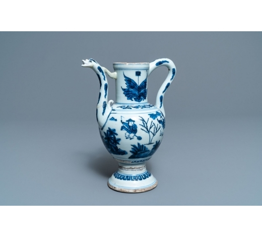 Rob Michiels AuctionsA Chinese blue and white 'playing boys' ewer, Wanli