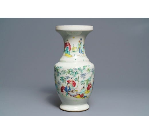 Rob Michiels AuctionsA Chinese famille rose 'Seven Sages of the Bamboo Grove' vase, Yongzheng