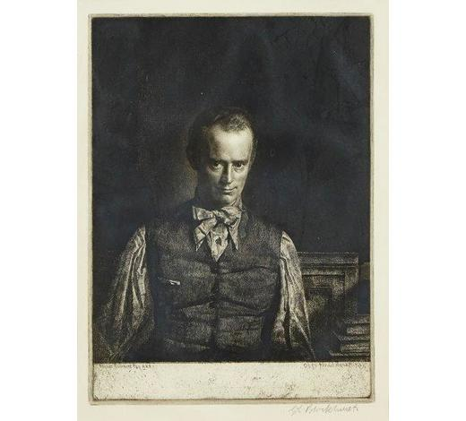 RoseberysGerald Leslie Brockhurst RA,  British 1890-1978-   Henry Rushbury, No. 2, 1930 [Fletcher 66];   etching, 13th (final) state, signed in pencil, titled, dated, and signed within the plate, plate 25 x 18.4cm, (ARR)