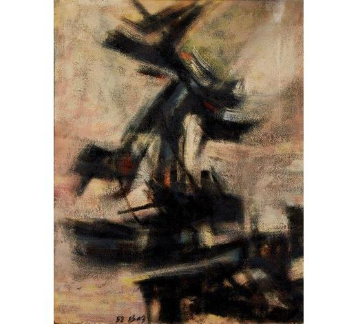 RoseberysIzgan Baz, Turkish/British 1919-?-  Untitled abstract composition, 1958;  oil on board, signed and dated, 81x63cm (ARR)