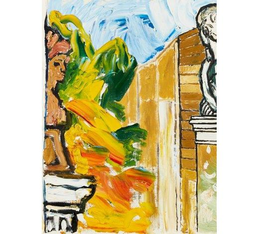 RoseberysJohn Randall Bratby RA, British 1928-1992-  Two sculptures on plinths;  oil on canvas, 45.7x35.7cm (ARR)  Provenance: purchased from the Modern British Gallery by the present owner