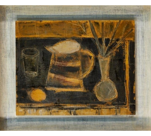 RoseberysTony O'Malley HRHA, Irish 1913-2003-  Still-life with vase and lemon, 1962;  oil on board, signed with initials and dated, 40x 50.2cm (ARR)  Provenance : Christie's, South Kensington, 15 December 2011, lot 58