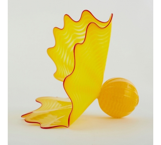 Revere AuctionsDale Chihuly, American, born 1941. Dale Chihuly Yellow Persian