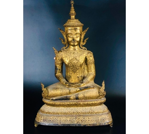 Madison Square Gallery Inc.RARE AND MAGNIFICENT GILT BRONZE SEATED SHAKYAMUNI
