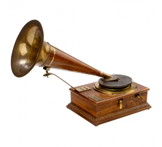 Auction Team BrekerWood-Cased Stollwerck Toy Gramophone, c. 1904