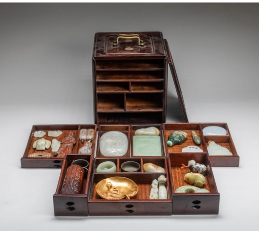Wealthier Art Auctioneer IncImportant Chinese Antique Jades/Beads Box