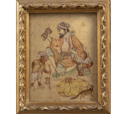 Oriental Art AuctionsA small Mughal miniature painting