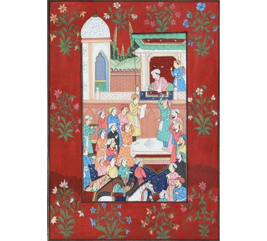 Oriental Art AuctionsThe emperor Akbar petitioned by a court