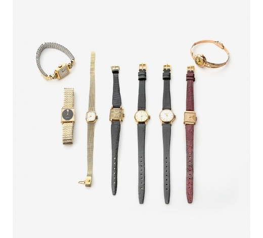 AAGA collection of eight lady's wristwatches