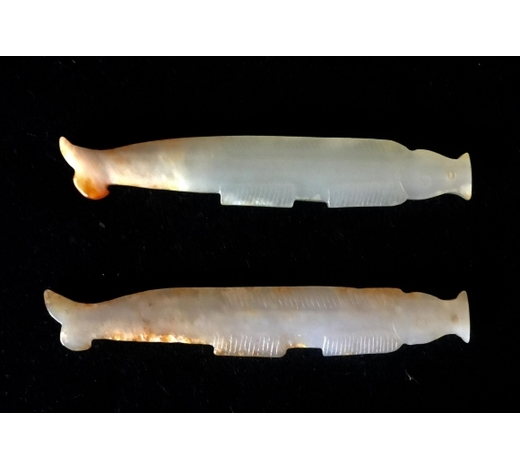Madison Square Gallery Inc.A Pair Of Chinese Carved Jade Fish
