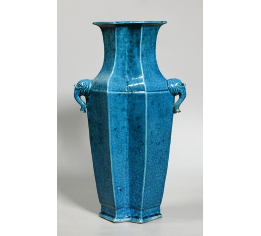 Eddie's AuctionParis; Chinese Early 18 C Turquoise Porcelain Vase