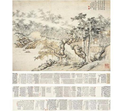 西泠拍卖董潮(1729~1764)秋雨停樽圖